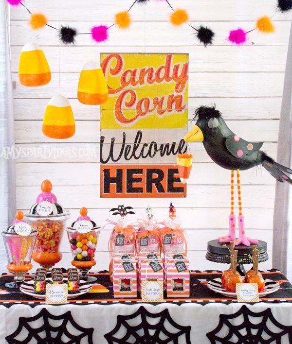 Candy-Corn-Halloween-Party-Ideas-1 @AmysPartyIdeas #halloween #party #ideas #candycorn