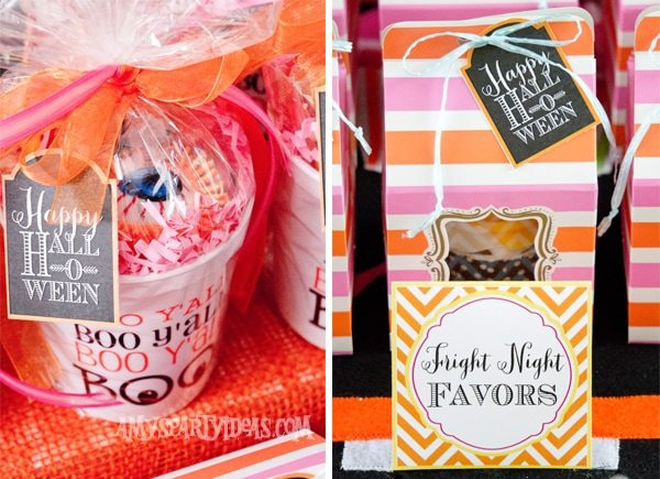 Candy-Corn-Halloween-Party_Cupcake-Favor-Boxes-Cups @AmysPartyIdeas #halloween #party #ideas #candycorn
