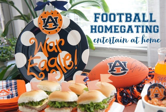 Homegating with Collegiate Partyware!
