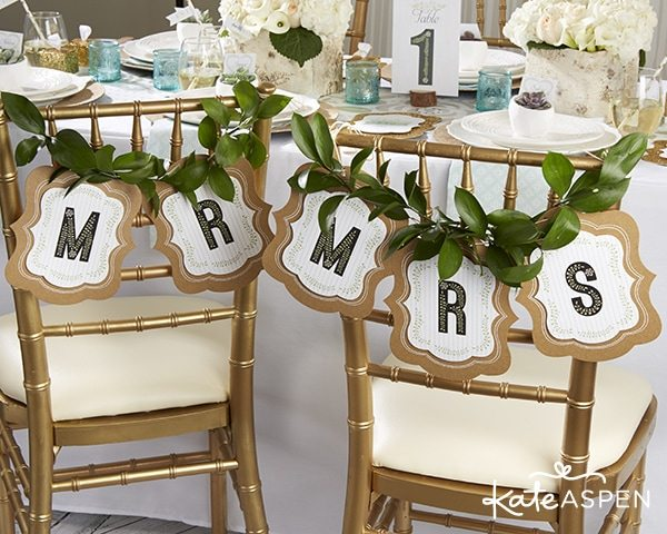 Rustic Wedding Ideas from KateAspen.com | Mr & Mrs Chair Backers