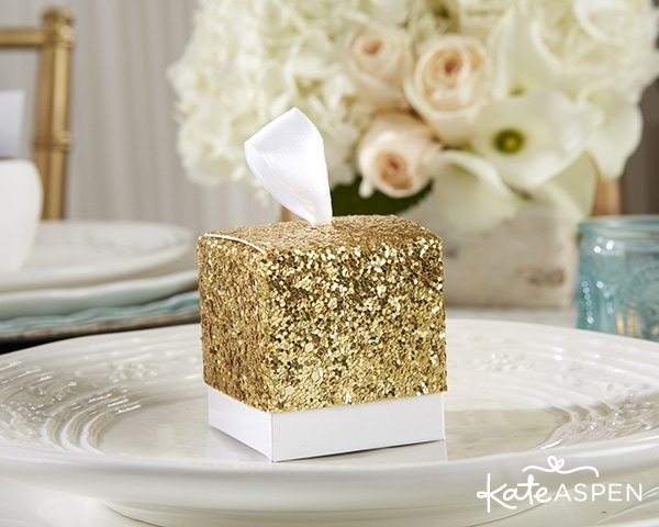Rustic Wedding Ideas from KateAspen.com | Gold Glitter Favor