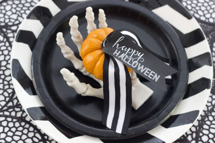 DIY Halloween Place Cards or Favor Tags | Free Printable from AmysPartyIdeas.com