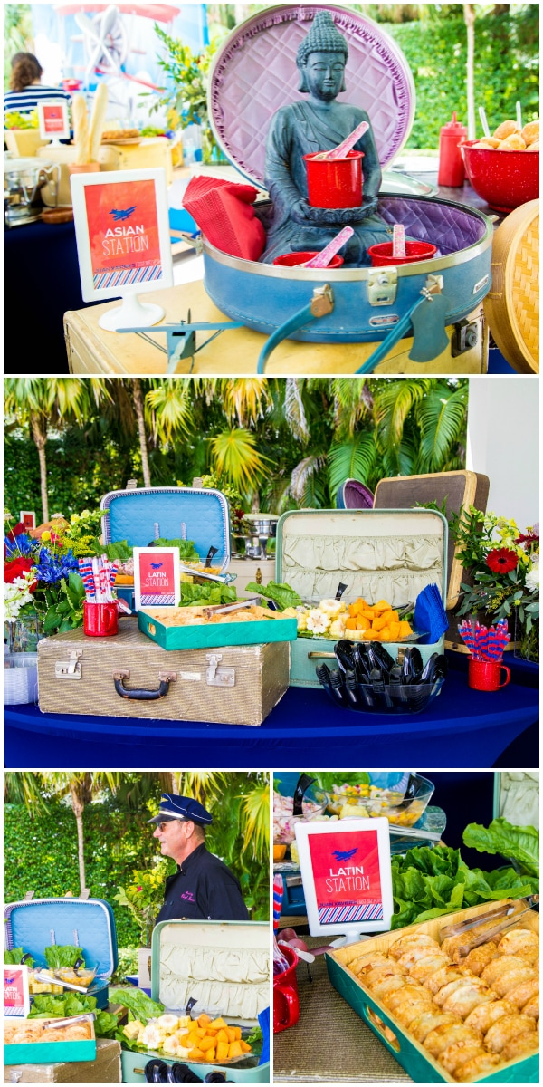 Vintage Airplane Party Ideas from OneInspiredParty.com as seen on AmysPartyIdeas.com