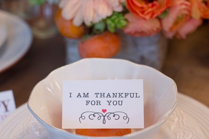 Thanksgiving Gathering Party Ideas from AmysPartyIdesa.com and Swoozies.com | Thankful Cards