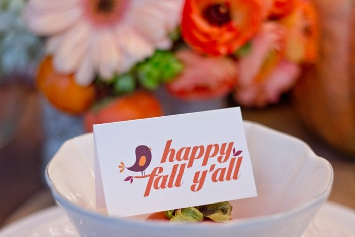 Thanksgiving Gathering Party Ideas from AmysPartyIdesa.com and Swoozies.com | Thanksgiving Placecards