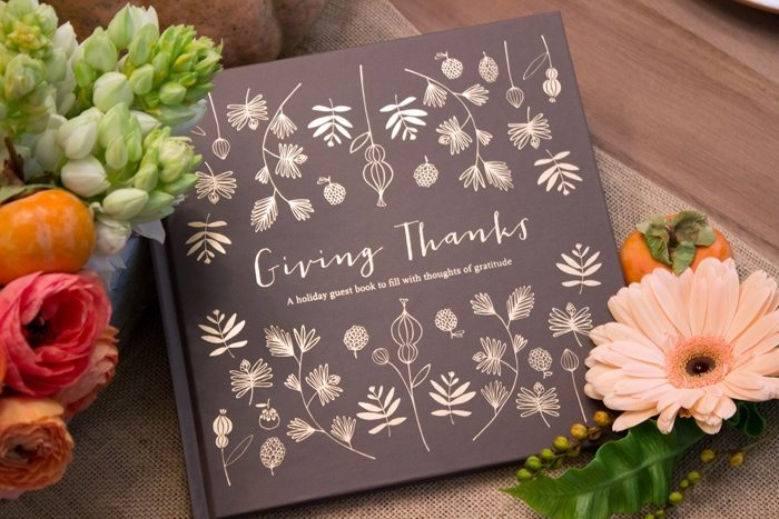 Thanksgiving Gathering Party Ideas from AmysPartyIdesa.com and Swoozies.com | Thanksgiving Guest Book