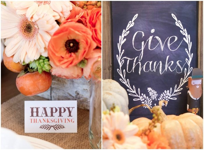 Thanksgiving Gathering Party Ideas from AmysPartyIdesa.com and Swoozies.com | Chalkboard Menu Board