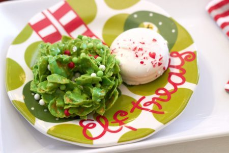 Elf Brunch Party Ideas from AmysPartyIdeas.com | Elf Treats plate from Coton-Colors.com | #cotoncolors #elfreturnweek