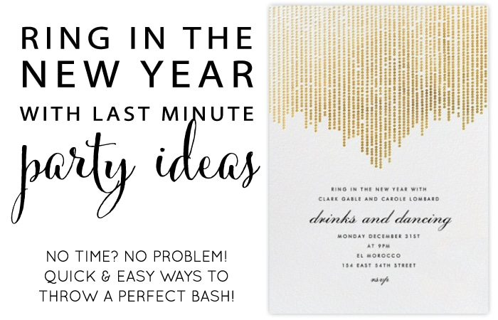 Last Minute New Years Party Ideas