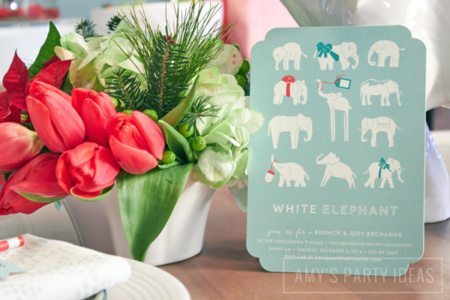 White Elephant Gift Exchange Party Ideas from AmysPartyIdeas.com | Minted.com #giveaway