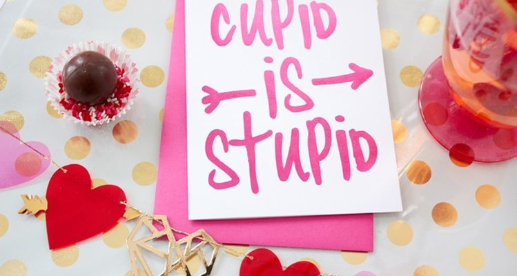 Cupid is Stupid Galentines Girl's Night Valentine's Day Ideas from AmysPartyIdeas.com & #swoozies
