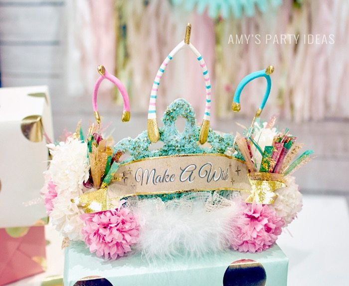 Make A Wish birthday party ideas from AmysPartyIdeas.com and Swoozies.com | Milstone Birthday Party Ideas | Sweet Sixteen Birthday Party Ideas