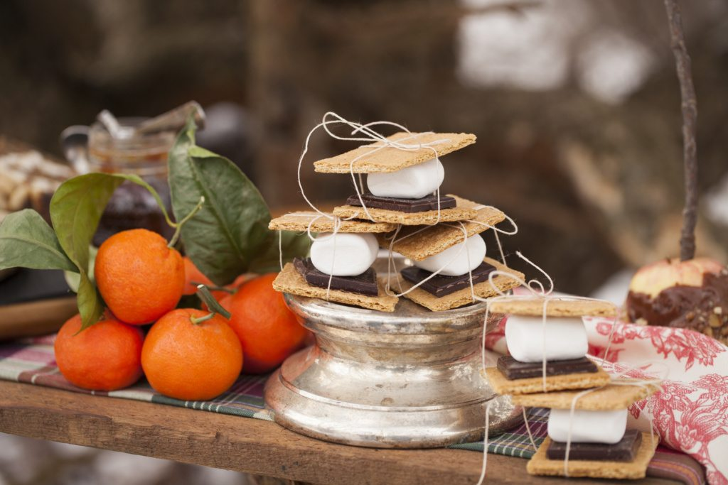 Winter in New England party ideas from OneFineDayCt.com as seen on AmysPartyIdeas.com #smores #campfire #winterparty
