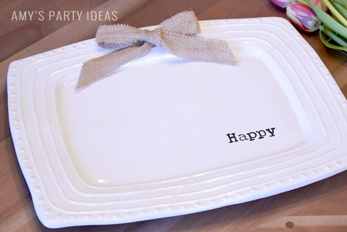 How to use your Happy Platter from Swoozies.com | Entertaining ideas from AmysPartyIdeas.com