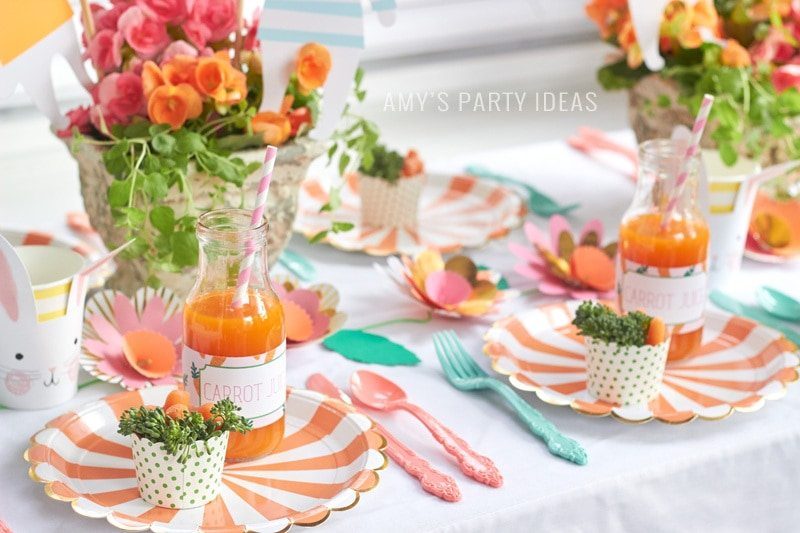Hop To It Easter Party Ideas for Kids from AmysPartyIdeas.com | Swoozies.com | #easter #kids #party