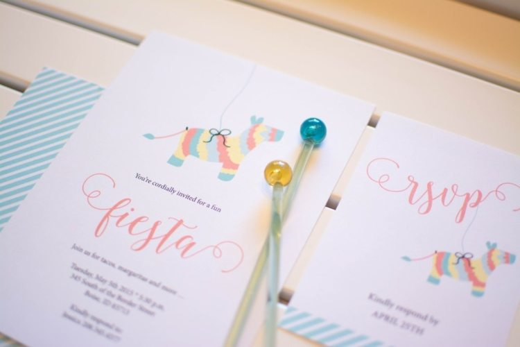 Fiesta printable party invitation from Twinkle Twinkle Little Party
