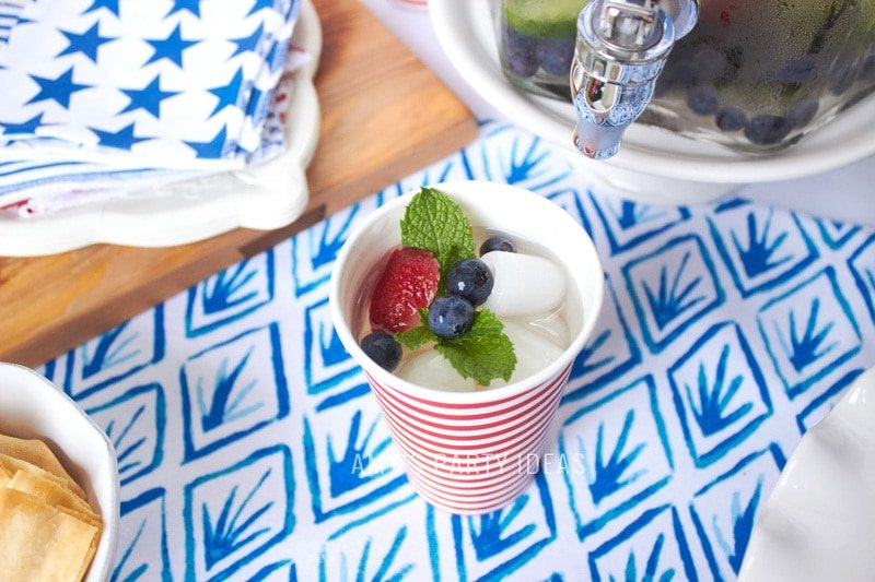 Cool ideas for the Fourth of July | AmysPartyIdeas.com | NewAir.com | New Air Portable Ice Maker | #icemaker #outdoor #entertaining #hiliday #party #ideas #fourthofjuly #4thofjuly #patriotic #laborday #memorialday