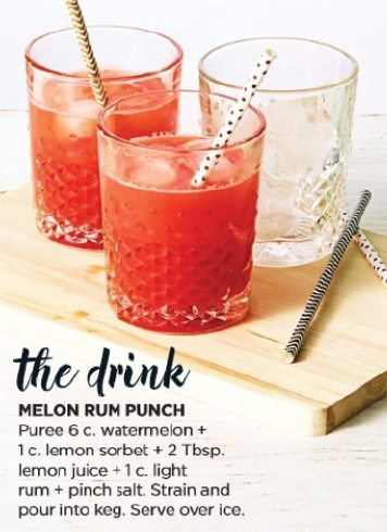 Melon Rum recipe from Good Housekeeping July 2015