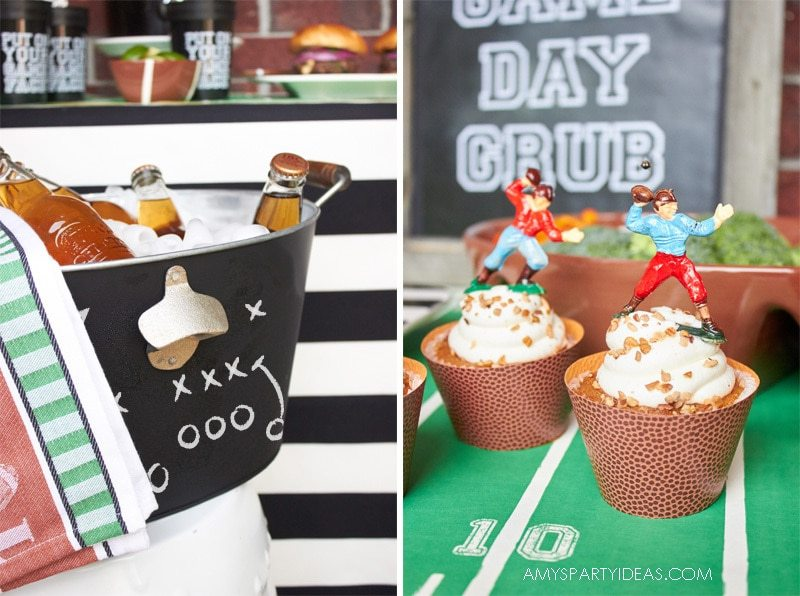 Chalkboard Beverage Tub with Bottle Opener | Tailgating 101 - Easy Gameday Entertaining Ideas from AmysPartyIdeas.com | Gameday Tailgate partyware from Swoozies.com |#football #tailgate #tailgatingideas #footballpartyideas #collegefootball #wareagle #mudpie