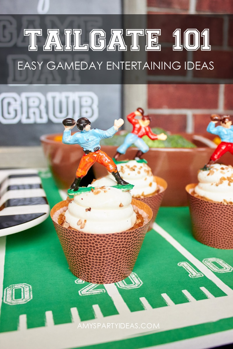 Tailgating 101 - Easy Gameday Entertaining Ideas from AmysPartyIdeas.com | Gameday Tailgate partyware from Swoozies.com |#football #tailgate #tailgatingideas #footballpartyideas #collegefootball #wareagle