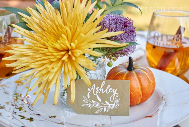Fall Harvest Family Style Dinner Party