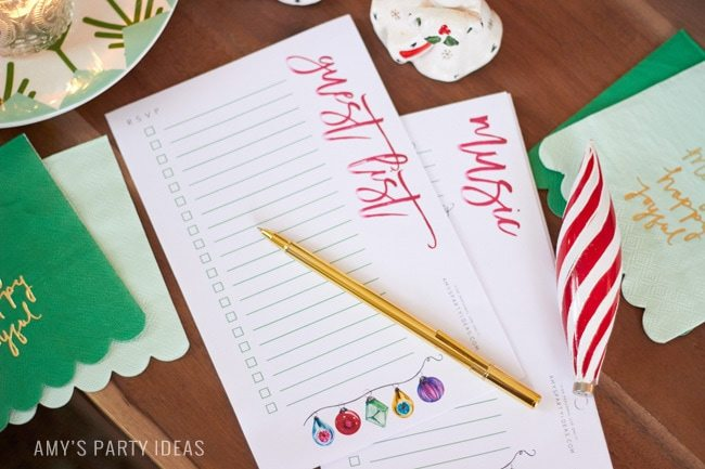 #PowerYourHoliday | FREE Printable Holiday Party Planning Guide & Checklists| Chritsmas Party Lists| FREE Printables from AmysPartyIdeas.com