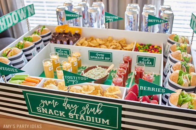 Diy Snack Stadium Amy S Party Ideas