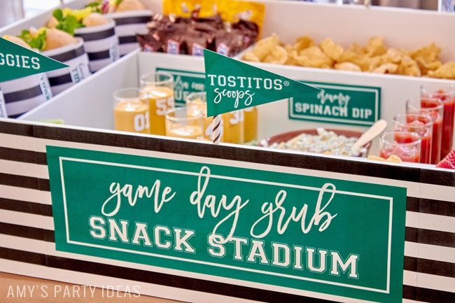 DIY Snack Stadium | Football Big Game | Build your own Snack Stadium with easy tutorial instructions and FREE football game day PRINTABLES | #GameDayGloryDIY Snack Stadium | Football Big Game | Build your own Snack Stadium with easy tutorial instructions and FREE football game day PRINTABLES | #GameDayGlory