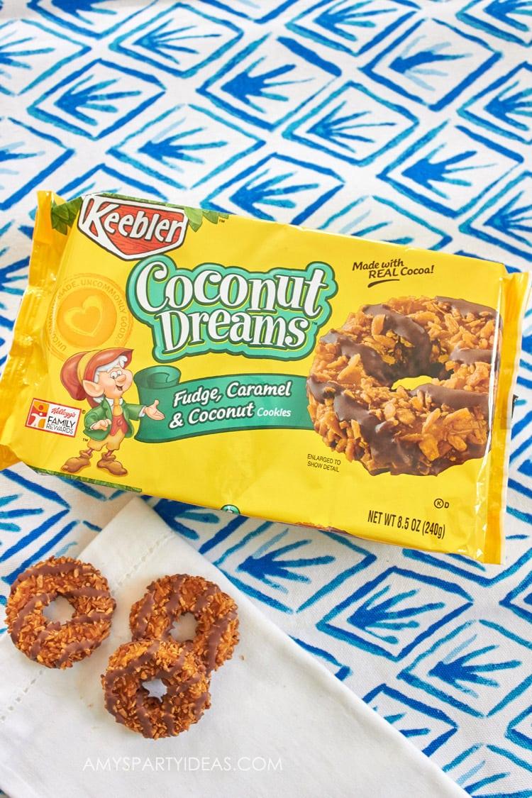 Dark Chocolate Sea Salt Coconut Dream Truffles #BiteSizedBitsOfJoy AmysPartyIdeas.com Recipe Tutorial