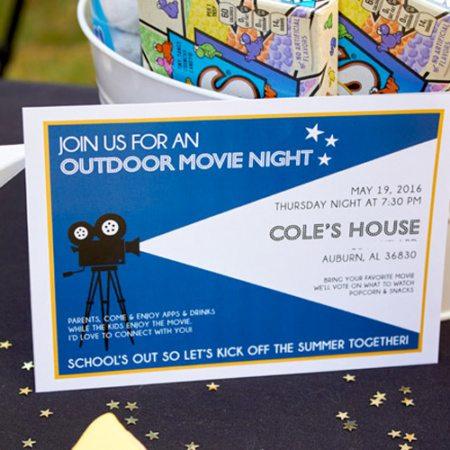 DIY Outdoor Movie Night