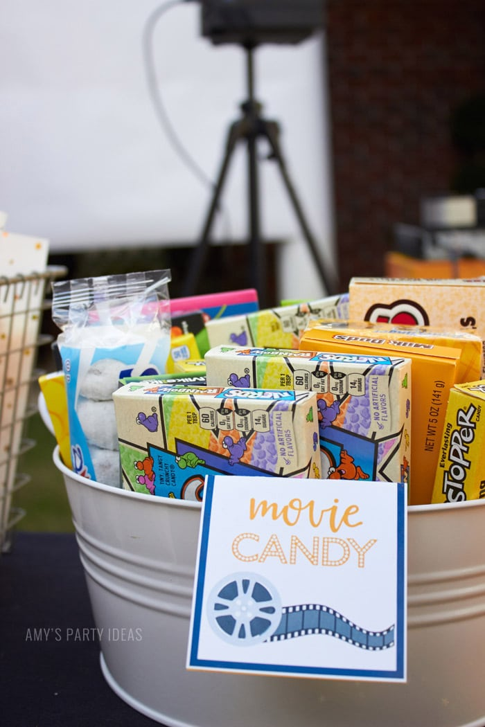 DIY Outdoor Movie Party Ideas | AmysPartyIdeas.com | Movie Candy | #DataAndAMovie