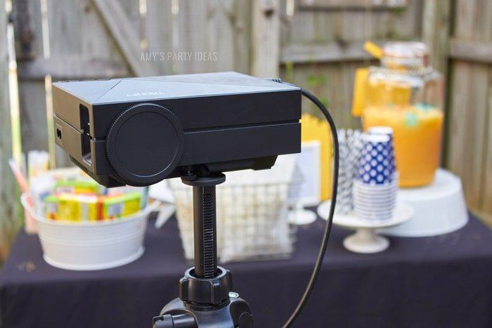 DIY Outdoor Movie Party Ideas | AmysPartyIdeas.com | Movie Projector | #DataAndAMovie