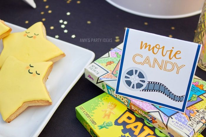 DIY Outdoor Movie Party Ideas | AmysPartyIdeas.com | Movie Candy| #DataAndAMovie