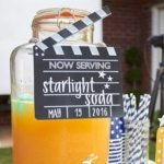 Outdoor Movie Party Printables | Edit your Own | Editable & Printable Clapperboard Drink Sign | LuluCole.com exclusively for AmysPartyIdeas.com | INSTANT DOWNLOAD