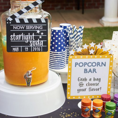 Clapper Board Drink Sign | EDITABLE | Outdoor Movie Night Party Printables INSTANT DOWNLOAD