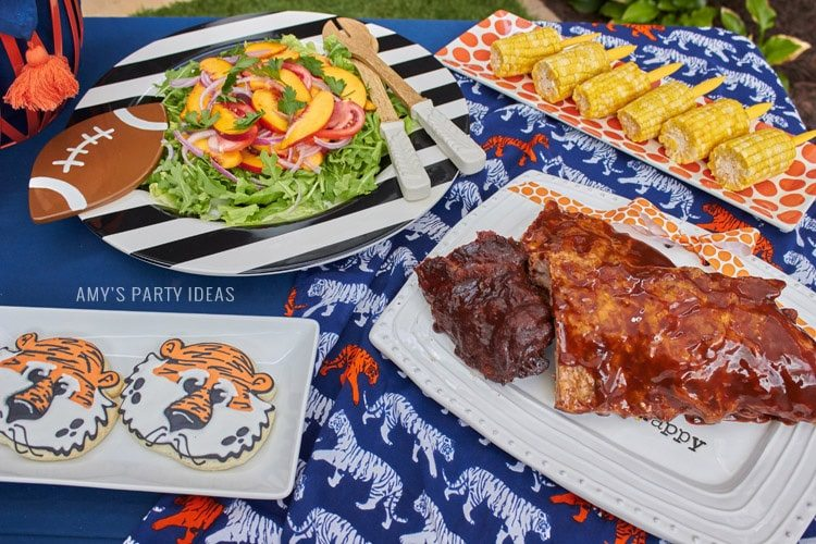 Tailgate Food | Ribs | Auburn Football Tailgate Ideas | Saturday down South | Football Tailgating | Football Watch Party | AmysPartyIdeas.com | Swooies.com