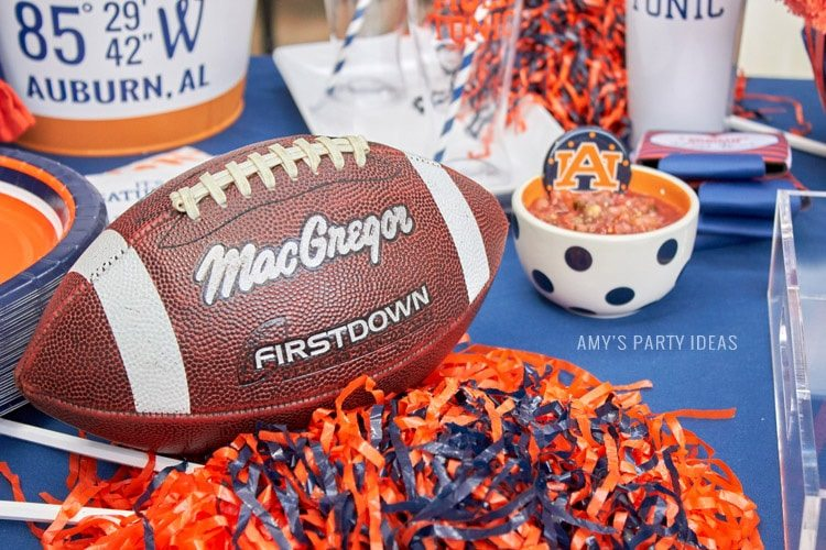 Auburn Football Tailgate Ideas | Saturday down South | Football Tailgating | Football Watch Party | AmysPartyIdeas.com | Swooies.com