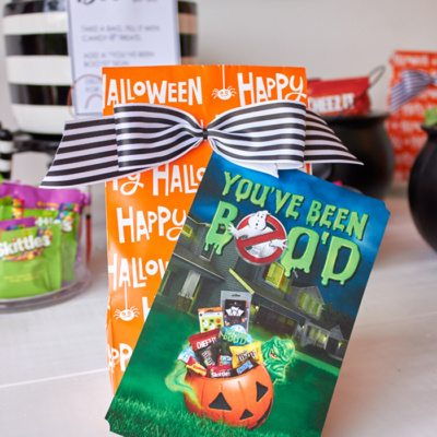 Host a BOO party! FREE PRINTABLES #BooItForward from AmysPartyIdeas.com | #ad