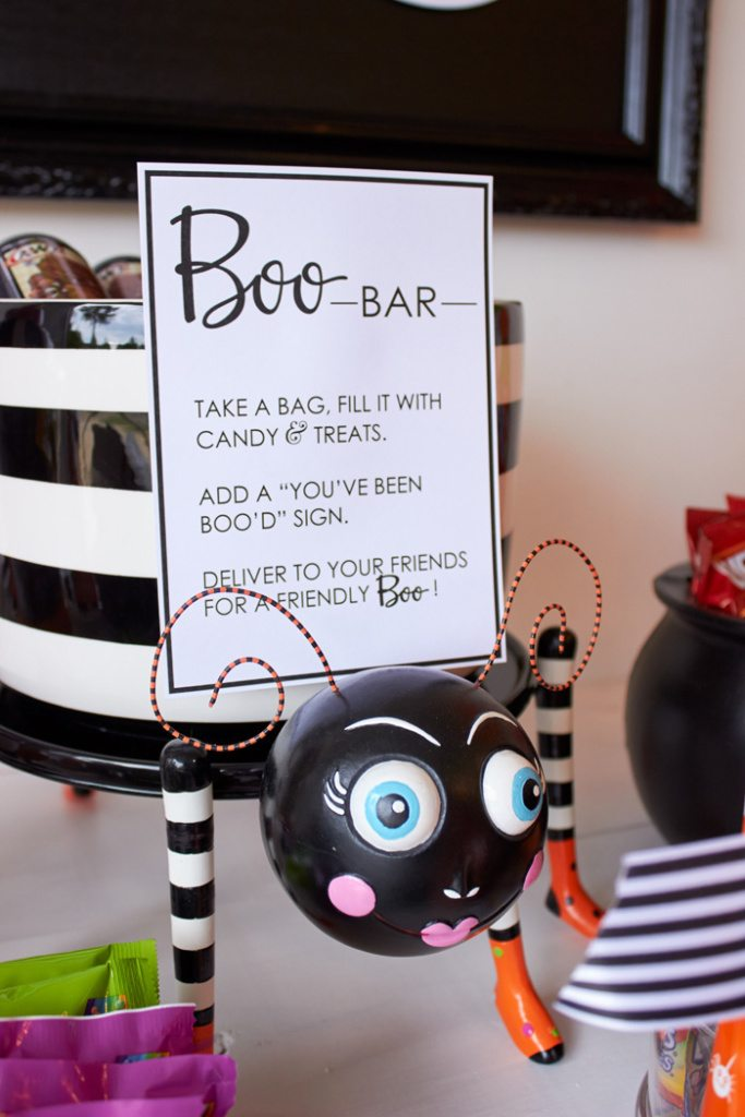 Host a BOO party! FREE PRINTABLES #BooItForward from AmysPartyIdeas.com | #ad #halloween