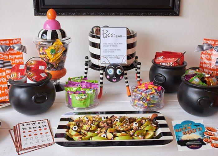 Host a BOO party! FREE PRINTABLES #BooItForward from AmysPartyIdeas.com | #ad #halloween