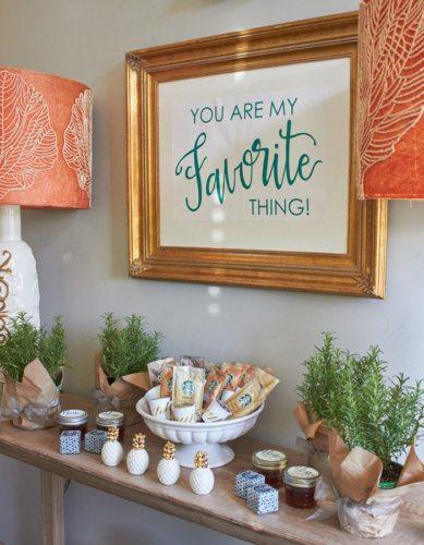 Gift Bar | Host a Favorite Things Brunch from AmysPartyIdeas.com | Holiday Entertaining Ideas | Gift Party Ideas | Barista Bar | #StarbucksCaffeLatte #MyStarbucksatHome