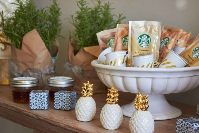 Starbucks Caffe Latte at Home | Host a Favorite Things Brunch from AmysPartyIdeas.com | Holiday Entertaining Ideas | Gift Party Ideas | Barista Bar | #StarbucksCaffeLatte #MyStarbucksatHome