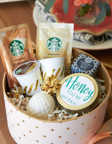 DIY Gift Boxes | Host a Favorite Things Brunch from AmysPartyIdeas.com | Holiday Entertaining Ideas | Gift Party Ideas | Barista Bar | #StarbucksCaffeLatte #MyStarbucksatHome
