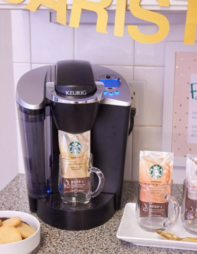 Host a Favorite Things Brunch from AmysPartyIdeas.com | Holiday Entertaining Ideas | Gift Party Ideas | Barista Bar | #StarbucksCaffeLatte #MyStarbucksatHome