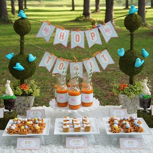 Hop To It Easter Party Printables ~ Perfect for Bunny Birthday