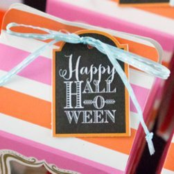 Candy Corn Halloween Party Ideas | Printable Favor Tags from LuluCole exclusively for AmysPartyIdeas.com