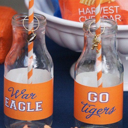 Auburn Football Tailgating Water Bottle Labels #wareagletailgating