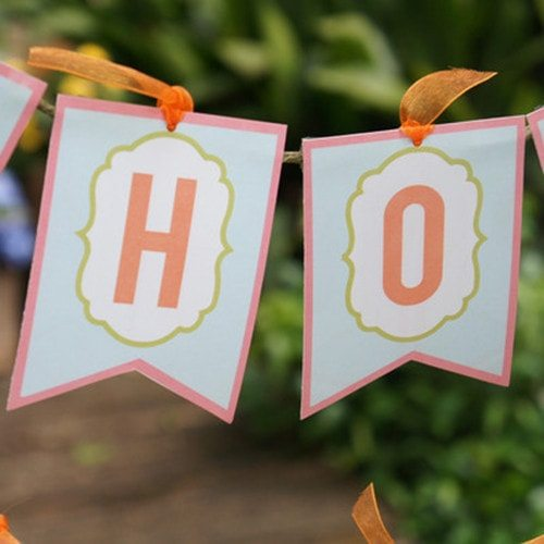 Easter Party Printable Banner - HOP TO IT _ Instant Download