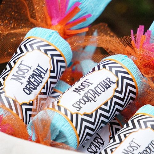#Pumpkin Carving Party Ideas & #Party #Printables for #Halloween Crackers