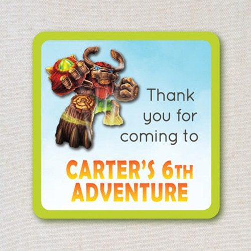Skylanders GIANTS favor tags - printable